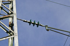 Electricity pylon for railways Royalty Free Stock Image