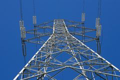 Electricity pylon - Stock image Royalty Free Stock Photos