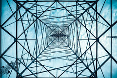 Electricity pylon structure closeup Royalty Free Stock Photo