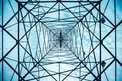 Electricity pylon structure closeup Stock Photography