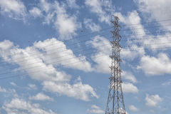 The electricity pylon for supply the electric power Royalty Free Stock Photo