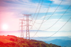 Electricity Pylon. UK standard overhead power line transmission tower royalty free stock photography