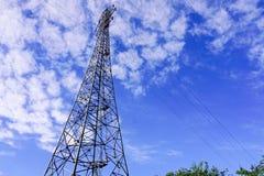 Electricity Pylon. Very electricity pylon with blue sky background stock image