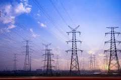 Free Electricity Pylons Royalty Free Stock Photography - 17082157
