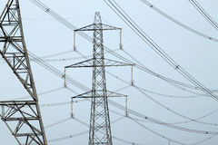 Electricity pylons. Close up of an electricity pylons Stock Image