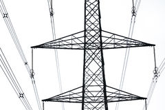 Electricity pylons Stock Photos