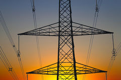 Electricity pylons. Close up of an electricity pylons Stock Photography