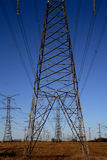 Electricity Pylons 3. Electricity Pylons against an azure sky Royalty Free Stock Image