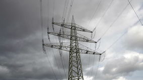 Electricity pylons stock footage