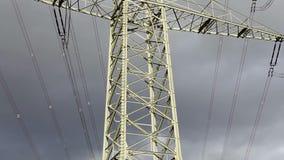 Electricity pylons stock video