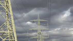 Electricity pylons stock video