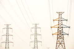 The electricity pylons Royalty Free Stock Photo
