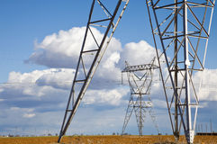 Electricity pylons Royalty Free Stock Image