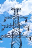 Electricity pylons. With a blue sky Stock Image