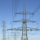 Electricity pylons energy power Royalty Free Stock Photos