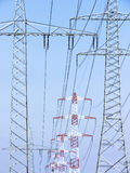 Electricity pylons Royalty Free Stock Images