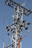 Electricity pylons with high-voltage wires. Industry Stock Photography