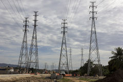 Electricity Pylons - Infrastructure Works Stock Photography