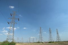 Electricity pylons and line