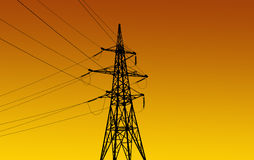 Electricity pylons and line Stock Photos