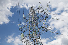 Electricity pylons and line Royalty Free Stock Photography