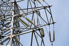 Electricity pylons and line Stock Photography