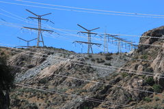 Electricity pylons Stock Images