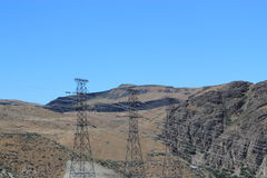 Electricity pylons Royalty Free Stock Photography