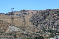 Electricity pylons Stock Photos