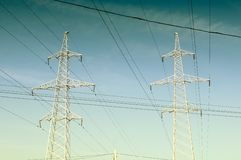 Electricity Pylons And Power Lines Stock Image