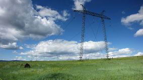 Electricity Pylons stock video footage