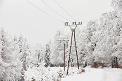 Electricity pylons Royalty Free Stock Photos