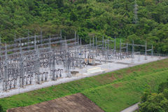 Electricity pylons,  Thailand Stock Photo