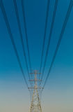 Electricity pylons. Royalty Free Stock Photography
