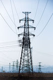 Electricity pylons Stock Photography