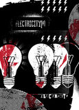 Electricity. Retro grunge poster. Vector illustration. Royalty Free Stock Image