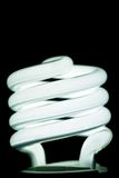 Electricity-saving lamp. On black Stock Photography