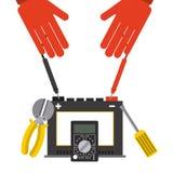 Electricity service Royalty Free Stock Photo