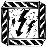 Electricity or shock warning vector Royalty Free Stock Images