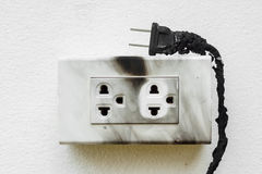Electricity short circuit royalty free stock photography