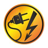 Electricity sign vector Stock Image