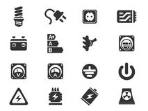 Electricity simply icons Royalty Free Stock Photography