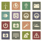 Electricity simply icons. Electricity  vector icons for web sites and user interface Stock Image