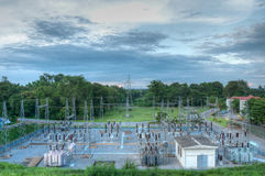 Electricity station (HDR) Royalty Free Stock Photography