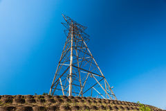 Electricity Steel Tower Bare Blue Royalty Free Stock Images