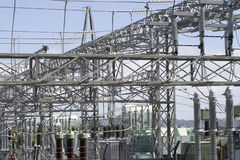 Electricity Sub-Station & Transformers Stock Image