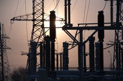 Electricity substation stock images