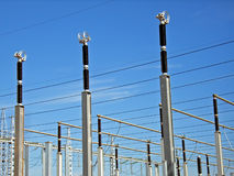 Electricity Supply. Details of and electricity power plant Royalty Free Stock Photo