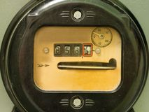 Electricity supply meter Royalty Free Stock Photography