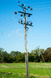 Electricity supply pole Royalty Free Stock Photos
